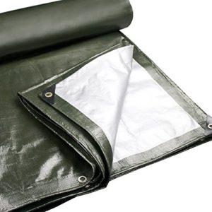 ChenCheng Bâche – Polyéthylène Épaississant Étanche Résistant Au Soleil Parce Auvent Extérieur De Camion 180g / m², 22 Tailles, ArmyGreen Outdoor Equipment (Size : 3X4m)