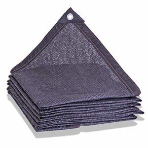 T5S6 Filet de Protection Solaire 10 Broches Noir, 4X8M