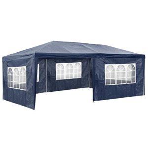 TecTake 800382 Tonnelle Tente Gazebo Pavillon de Jardin d'événement pour Fête 3×6 m – diverses Couleurs – (Bleu   No. 402302)