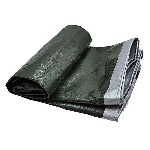 WXQIANG Argent extérieure Bâche, Toile enduite Polyvalent Bâche Pluie Voiture Toit Couverture de Bateau Camping Tente remorque, épaisseur 0.35mm Pool Cover Bâche (Size : 4x8m)
