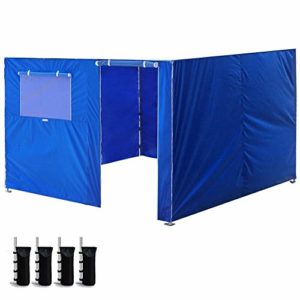 YITEJIA Tente extérieure imperméable à l'eau 3x6m Tissu Oxford Tente Mur Côtés Jardin Patio extérieur étanche Canopy EZ Pop Up Canopy Tente Kiosques Instant Commercial (Color : Blue)