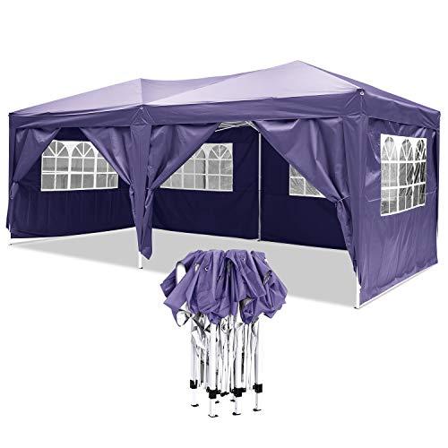 YUEBO Tonnelle Pliante imperméable Barnum 3×6 m Gazebo Tonnelle Pliable Tent Pliante Chapiteau de Reception pour Jardin,fête
