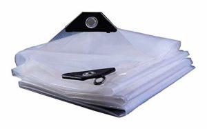 ZX XZ Bâche Transparent imperméable à l'eau en métal étanche à la Pluie œillet en Plastique étanche à la Pluie (Color : Clear, Size : 3x4m)