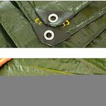 ZX XZ Grande Bâche Robuste bâche imperméable imperméable Bâches réfléchissant Bâche Étang à Poissons Bâche Toile Camping Gardentarpaulin Effacer Bâche (Color : Green, Size : 4x8m)