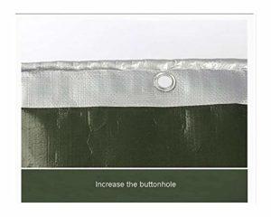 ZX XZ Multifonctionnelle Bâche extérieure imperméable crème Solaire Argent Bâche, Anti-rayonnement Ultraviolet Protection (Color : Silver, Size : 3x4m)