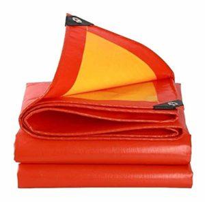 ZX XZ Plastique Tissu Oxford imperméable crème Solaire Camion épaissi Huile Auvent Canopy Sunscreen Bâche Raincloth extérieur épais Poncho Tarp Truck Couverture Sunscreen (Color : Red, Size : 4x8m)