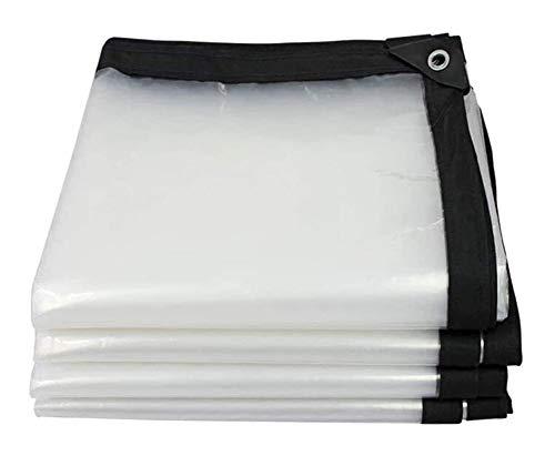 ZX XZ Tissu en Plastique, fenêtre Pluie, Rouleau Transparent Aveugle, Pluie Rideau Transparent Bâche Bâches, Balcon, antipluie, Rideau imperméable, Couverture Anti-Pluie (Color : Clear, Size : 3x6m)