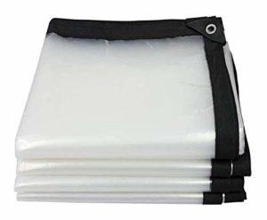 ZX XZ Tissu en Plastique, fenêtre Pluie, Rouleau Transparent Aveugle, Pluie Rideau Transparent Bâche Bâches, Balcon, antipluie, Rideau imperméable, Couverture Anti-Pluie (Color : Clear, Size : 4x8m)