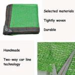 Anuo – Toile de soleil en tissu avec œillets – 80 % de protection solaire – Tissu rectangulaire pour jardin – Pergola – Pour niches – Bâche, Polyéthylène, Vert, 3x4m/9x12ft