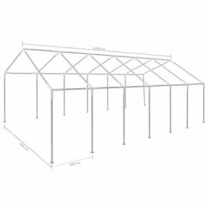 Ausla Tonnelle de Jardin,Cadre en Acier pour Tente de fête 12 x 6 m