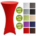 Beautissu Housse de table de bistrot – Mange debout – Deco Cocktail – Stretch spandex – Stella – 60-65cm – Rouge