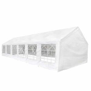 Festnight Tente de Réception Tente de Fête Tente de Jardin 12 x 6 m Blanc