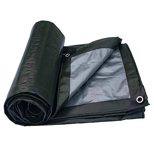 GLP Bâche de poncho épaisse, en plastique, auvent en tissu, tissu de protection solaire pour voiture, bâche de couleur noire, Couleur polyester industriel + PVC., 4x8m