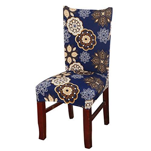 Housse de chaise protectrice imprimée en lycra pour décoration de mariage, de banquet, de fête