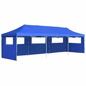 LXDDP Tente fête, Gazebo Pliable avec côtés et Panneaux, Tente chapiteau résistante à l'eau avec 5 parois latérales pour la fête, réunions Famille, Mariage 3×9 m
