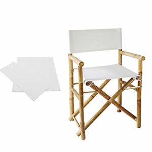 Nouveau couvercle de remplacement de chaise de loisirs chaise en bambou de couverture de chaise de directeur pliant housse de chaise de toile en plein air petit art frais couverture de chaise de pêche