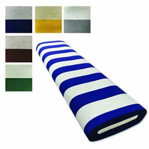 Panini Tessuti, Tissu pour rideaux de soleil rayures larges vendu au demi mètre – Marquises d'extérieur, Poids 270 g/m² Excellente résistance dans le temps