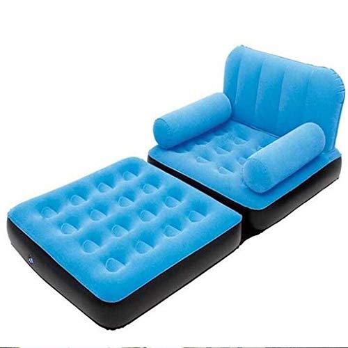 VIUNCE Canapé Paresseux lit Gonflable canapé Chaise Camping Chaise Unique canapé Gonflable lit Multi-Fonction Canapé Simple (Color : Blue)