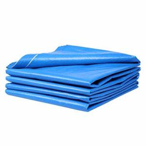WXQIANG Bâche imperméable pour extérieur Bleu/blanc, Fibre synthétique, 3x4m