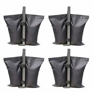 Cabilock 4Pcs Sacs de Poids pour Tente à Baldaquin Poids de Jambe Lourds Sacs de Sable pour Tente à Baldaquin Parasol Mobilier D'extérieur (Noir)