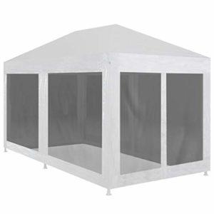 Daonanba Tente De Réception avec Parois Latérales en Maille Résistant à l'eau Et Aux UV Et Insectes pour Festival Jardin Réception Abri Barbecues (6 x 3 m)