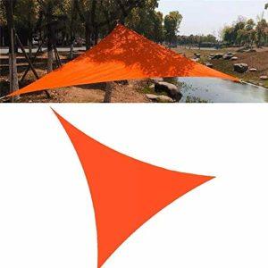 Fly pluie Tente de jardin Patio extérieur Camping Tente Canopy UV Logement 3x3x3m / 10x10x10ft Triangle corde Voiles d'ombrage Tente imperméable à l'eau de pluie Fly hamac (Couleur: Orange, Taille: 3x