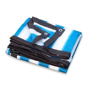 GBY Filet d'ombrage camouflage pour voiture de protection solaire pour toit de jardin Vert succulent filet de protection pour le camping (couleur : bleu, blanc, taille : 3 x 6 m)