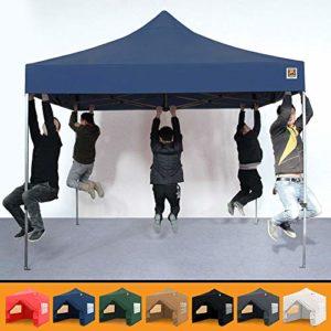 Gorilla Gazebo ® Pop Up 3 x 3 m Robuste et Imperméable Stall de marché Commercial 4 panneaux latéraux et sac de transport à roulettes 3 x 3 m bleu