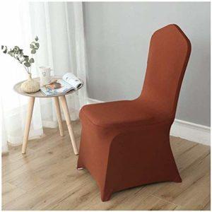 MWPO Housse de Chaise élastique Lavable pour Les Housses de siège latérales de Hauteur comptoir pour Les chaises carrées des hôtels (Couleur: Caramel, Taille: 50pc)