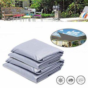 Pluie Fly Tente rectangulaire Voile d'ombrage UV Solaire étanche extérieur Camping Jardin Auvent 3x4m / 4x5m Pluie Fly Hamac (Couleur: Argent, Taille: S (3 x 4 m)) (Size : Silver)