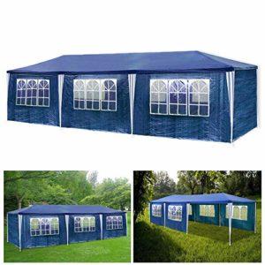 wolketon Hengda 3x9m Jardin Tonnelle étanche Jardin Camping Stable Tente Tubes d'acier Stable de Haute qualité avec 6 Parties latérales et 2 entrées étanche