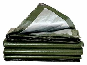 ZX XZ Bâche imperméable Robuste Vert Bâche Conseil de Haute qualité Made Couverture de 200 g / m2 Bâche (Color : Green, Size : 3x6m)