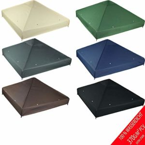 freigarten.de Toiture de rechange pour pavillon 3 x 3 m – en matériau étanche : Panama PCV Soft 370 g/m2 modèle 2 super résistant vert