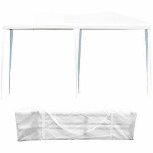 RELAX4LIFE Tente de Réception 3 X 6 M, Tonnelle de Jardin en Acier sans Côtés, Tente Pliable Imperméable avec Structure Solide, Idéal pour Fêtes Mariages Célébrations Dîner en Plein Air (Blanc)