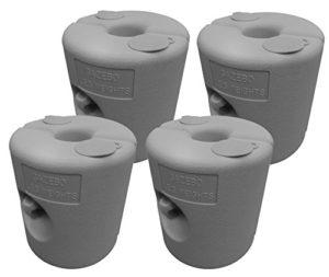 Spetebo 4x Pied Gris–Support Fusible Récipient–Poids Tonnelle stützen Trampoline Support