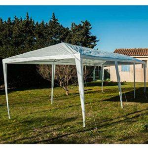 WerkaPro 8911 – Tente de réception – 3 x 9 m – Hauteur 2,5m – Armature en métal laqué – Blanche
