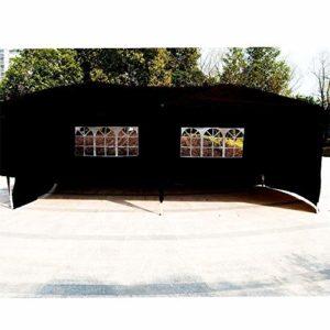 ZzheHou Pavillon De Jardin Non-Top Mariage Canopy avec Sac De Transport 10′ X 20′ Party Gazebo Patio Extérieur Tente (Color : Black, Size : 3x6x2.5 m)